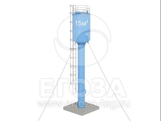 Изображение Водонапорная башня Рожновского 15 м3 2400х960х12500 по ТУ 4х4