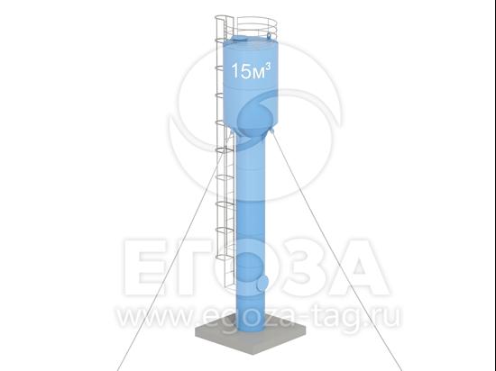 Изображение Водонапорная башня Рожновского 15 м3 2400х1200х12500 по ТУ 4х4
