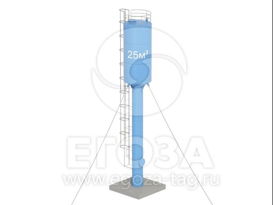 Изображение Водонапорная башня Рожновского 25 м3 2400х960х14000 по ТУ 4х5