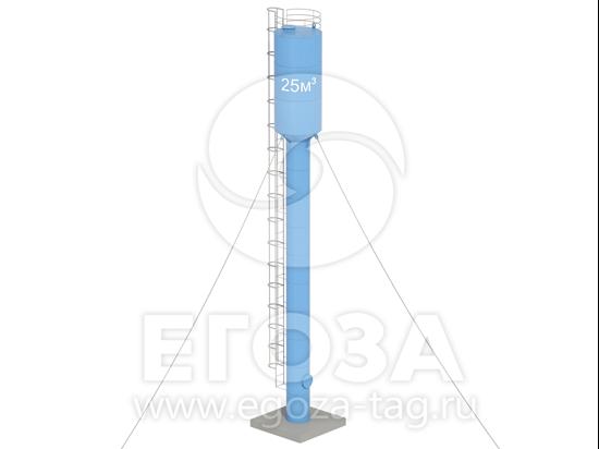 Изображение Водонапорная башня Рожновского 25 м3 2400х1200х20000 по ТУ 4х4