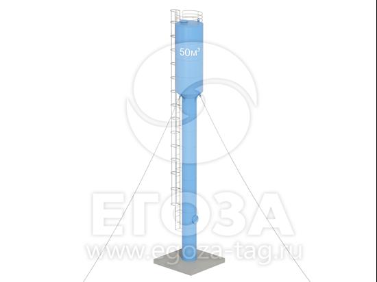 Изображение Водонапорная башня Рожновского 50 м3 2400х1200х21500 по ТУ 4х4