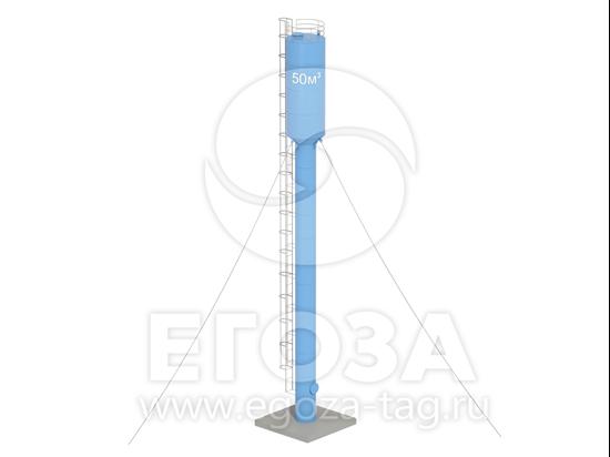 Изображение Водонапорная башня Рожновского 50 м3 2400х1200х24500 по ТУ 4х5