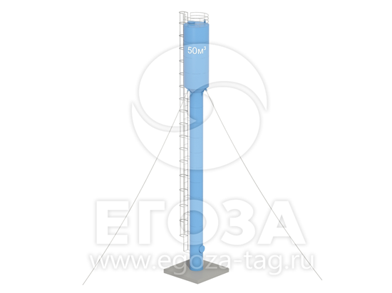 Изображение Водонапорная башня Рожновского 50 м3 2400х1200х24500 по ТУ 5х5