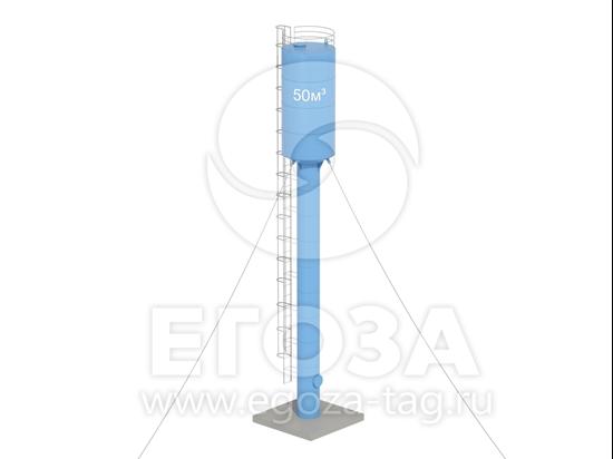 Изображение Водонапорная башня Рожновского 50 м3 3020х1200х21500 по ТП 5х5