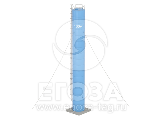 Изображение Водонапорная башня Рожновского 160 м3 3020х3020х25500 по ТП 5х5